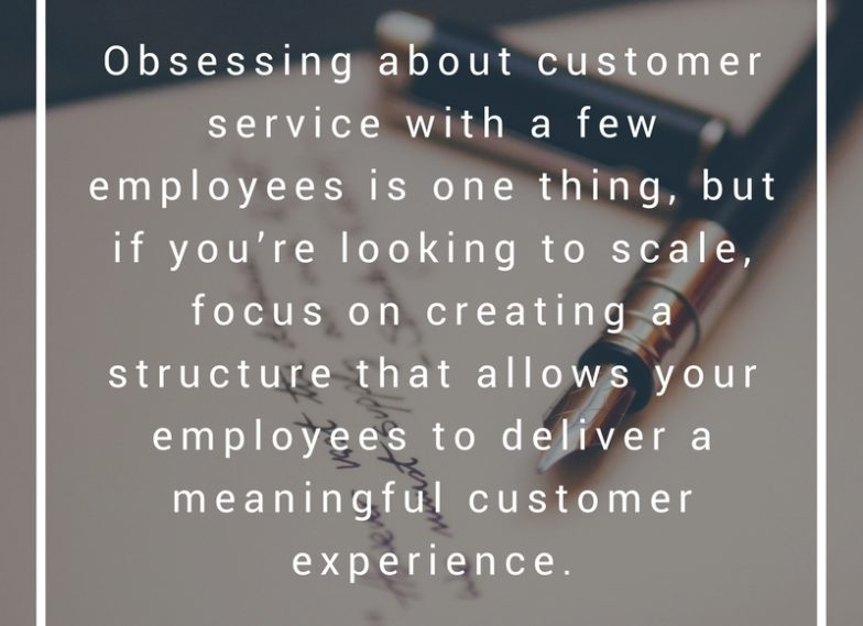 Obsessing about Customer experience